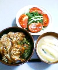 8月15日の夕ご飯