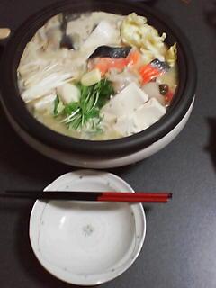 1月7日の夕ご飯~石狩鍋?~
