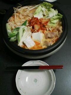 1月13日の夕ご飯~豚キムチ鍋~