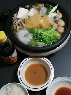 1月20日の夕ご飯:水炊き