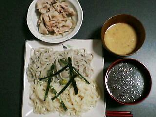 1月23日の夕ご飯:稲庭うどん