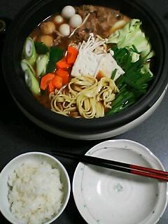 1月27日の夕ご飯:もつ鍋