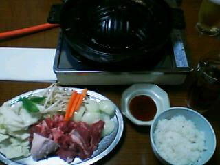 1月29日の夕ご飯:香羊亭(函館)