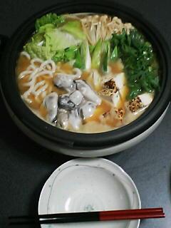 2月2日の夕ご飯:かきの土手鍋