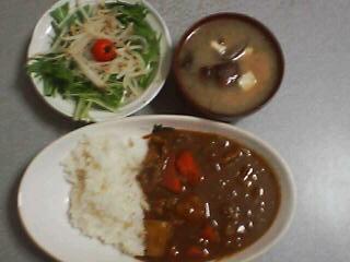 2月14日の夕ご飯:ラムカレーライス