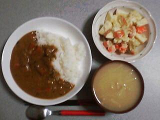 2月15日の夕ご飯:ラムカレー