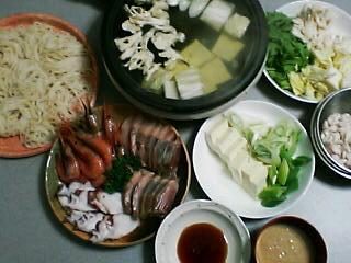 2月17日の夕ご飯:海鮮しゃぶしゃぶ