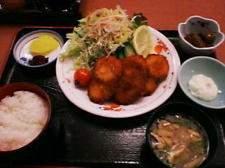 2月18日の夕ご飯:レストラン渚のしらべ(豊浦)