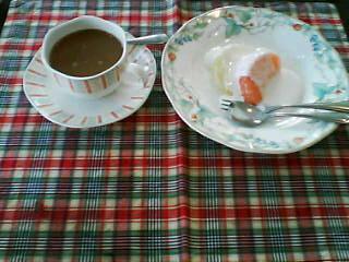 2月19日の朝ご飯:ペンション・クライスデール(留寿都)~デザートとコーヒー
