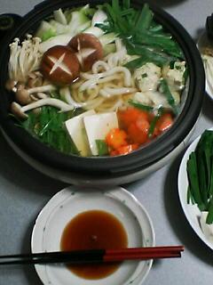 2月23日の夕ご飯:鶏団子鍋