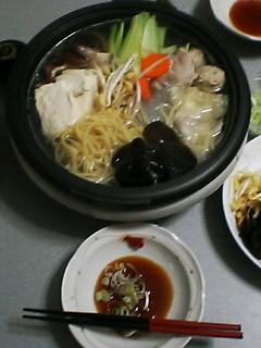3月10日の夕ご飯:中華風オリジナル鍋