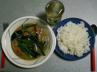 3月21日の夕ご飯:タイグリーンカレー