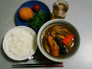 3月25日の夕ご飯:おでんスープカレー