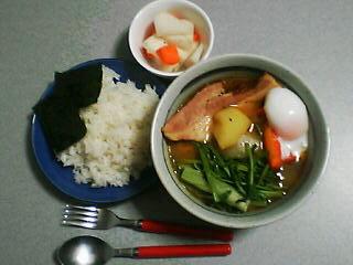 4月3日の夕ご飯:蕪とベーコンのスープカレー