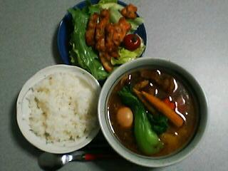 4月15日の夕ご飯:角煮スープカレー