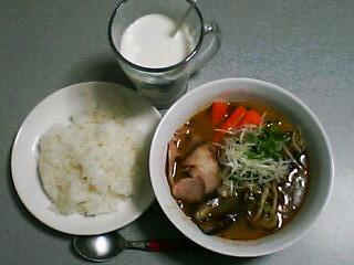 5月20日の夕ご飯:ねぎチャーシュースープカレー