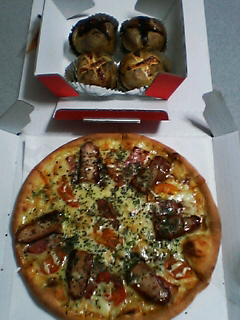 5月27日の夕ご飯:ピザ・テンフォー
