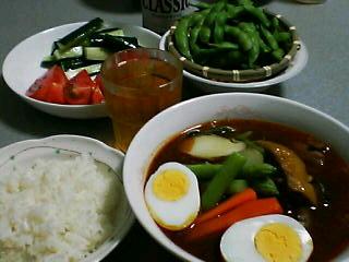 8月4日の夕ご飯:角煮スープカレー