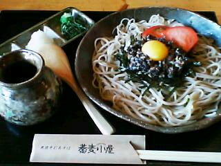 8月5日の昼ご飯:蕎麦小屋(七飯)