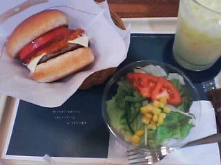 8月9日の夕ご飯:モスバーガー
