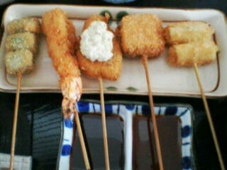 8月15日の昼ご飯:揚げ串 遊庵(函館)