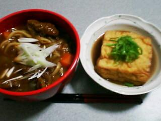 8月26日の夕ご飯:牛すじカレーうどん