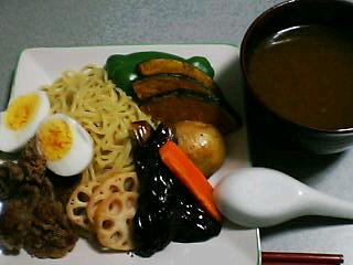 9月25日の夕ご飯:スープカレーつけめん(菊水)