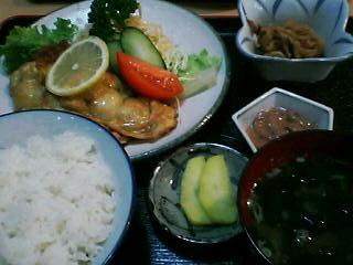 10月7日の夕ご飯:ドライブインみさき(豊浦)