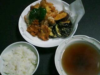 10月9日の夕ご飯