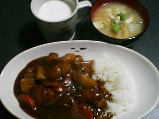 10月29日の夕ご飯:チキンカレー