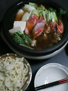 11月3日の夕ご飯:寄せ鍋:2005-2006AW/no.1