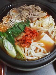 11月10日の夕ご飯:豚キムチ鍋:2005-2006AW/no.2