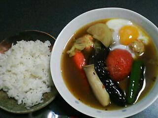 11月20日の夕ご飯:鶏団子と野菜のスープカレー