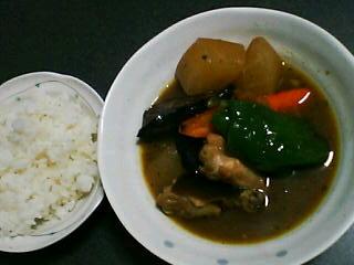 11月24日の夕ご飯:鶏肉と大根のスープカレー