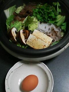 11月25日の夕ご飯:すき焼き:2005-2006AW/no.4
