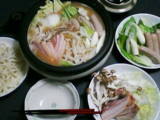 12月6日の夕ご飯:洋風豚肉鍋:2005-2006AW/no.5