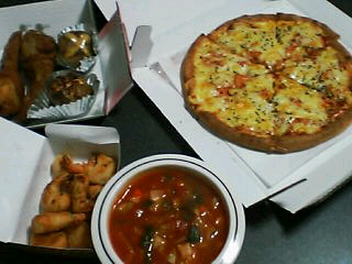 12月10日の夕ご飯:ピザ・テン・フォー(函館)