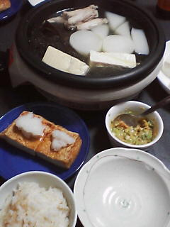 12月14日の夕ご飯:湯豆腐:2005-2006AW/no.6
