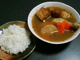 12月17日の夕ご飯:おでんスープカレー