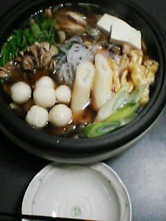 12月27日の夕ご飯:きりたんぽ鍋