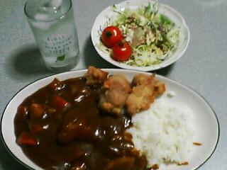 2月4日の夕ご飯:唐揚げチキンカレー