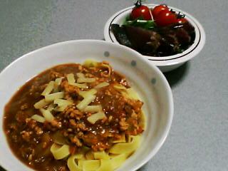 2月6日の夕ご飯:チーズカレーパスタ