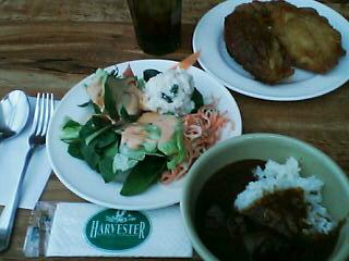 2月18日の昼ご飯:ハーベスター八雲(八雲)