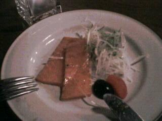 2月18日の夕ご飯:MOSSTREES(函館)サーモンのカルパッチョ