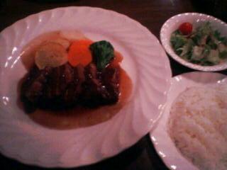 2月18日の夕ご飯:MOSSTREES(函館)国産豚バラ肉のワイン煮(サラダ・ライス付)