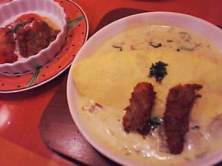 2月21日の夕ご飯:卵と私(札幌)