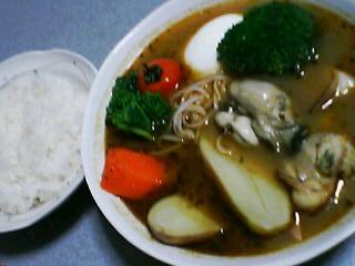 3月9日の夕ご飯:ホタテとホッキのスープカレー