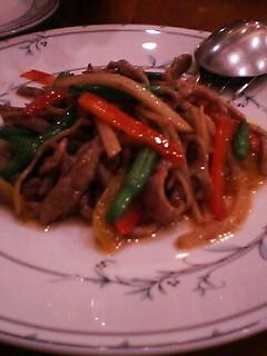 6月27日の夕ご飯(豚肉の炒め物)