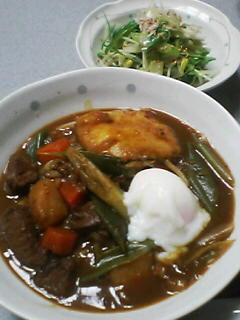 7月4日の夕ご飯:牛すじカレーうどん