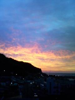 ホテルニュー下風呂から見た夕景